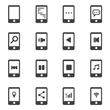 sms payment: phone icon Illustration