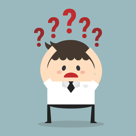 businessman with question mark Illustration