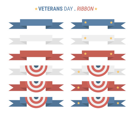 veterans: Veterans day ribbon. flat design