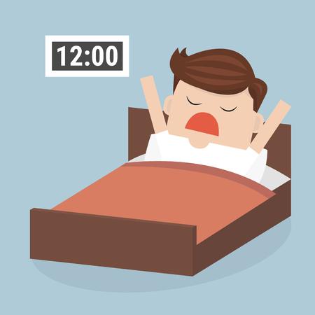 salaryman: Wake up late businessman