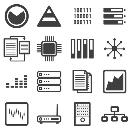 document management: data icon set