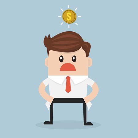 Homme d'affaires n'a pas d'argent Banque d'images - 49685947