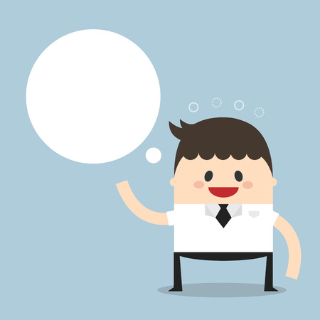 businessman with blank bubble Illustration