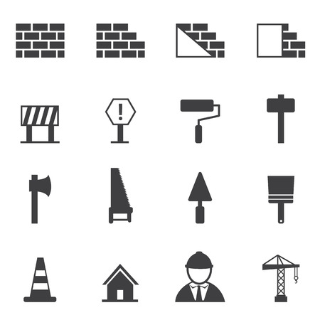 construction tools: construction icon