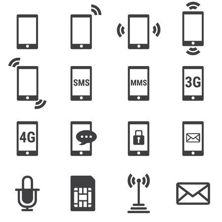 hablando por celular: icono del tel?fono Vectores