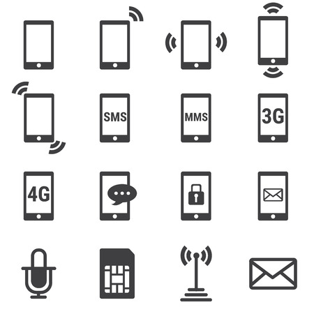 sms icon: phone icon Illustration