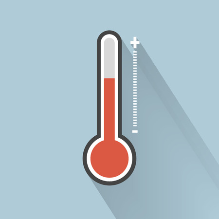 Thermometer icon , Flat design style, vector illustration. Ilustrace