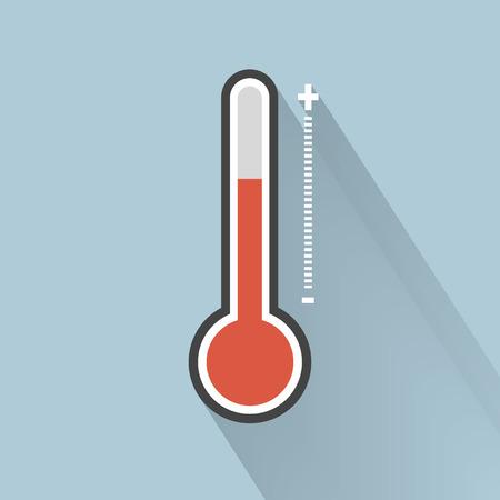 Thermometer icon , Flat design style, vector illustration. Illustration