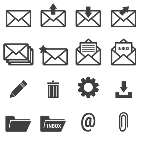 unread: Email icons Illustration