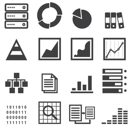 share market: data icons