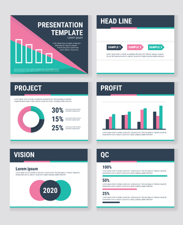 Business presentation templates and infographics vector elements. Information graphics for advertisements, websites, flat design.