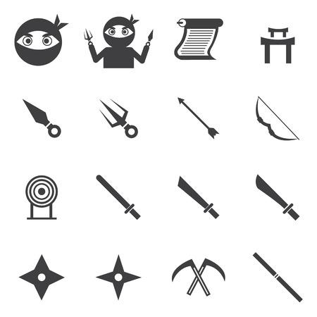samurai sword: ninja icon Illustration