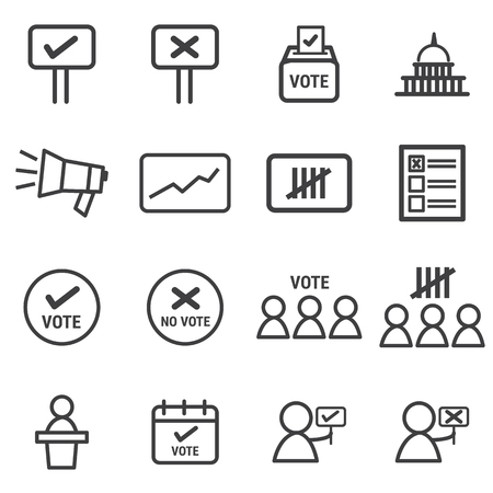 electoral: Election Icons set