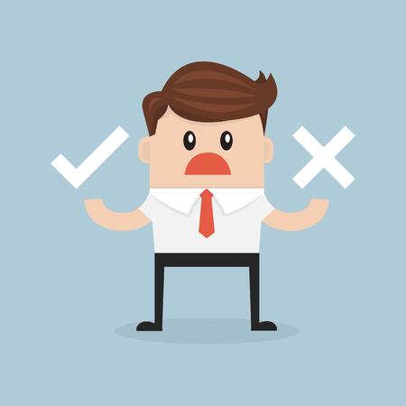 stereotypical: Businessman check mark Illustration