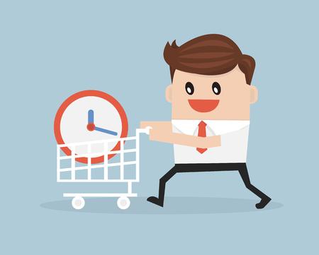 Kopen tijd concept Stock Illustratie