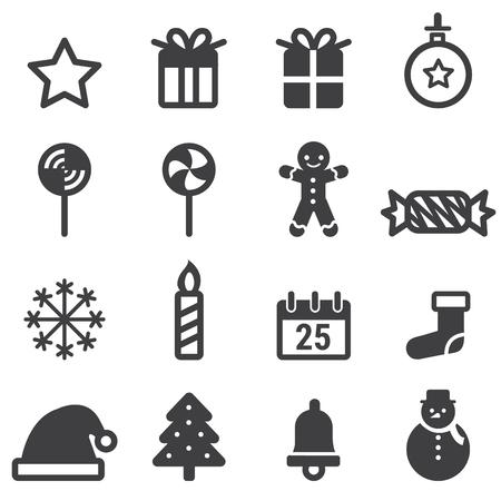 ice tea: Christmas Icons