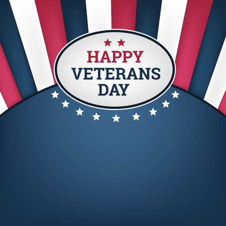 day to day: Happy veterans day horizon background. Vector illustration