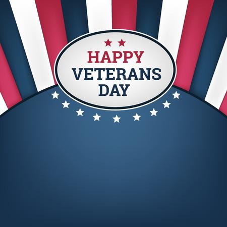 Happy veterans day horizon background. Vector illustration