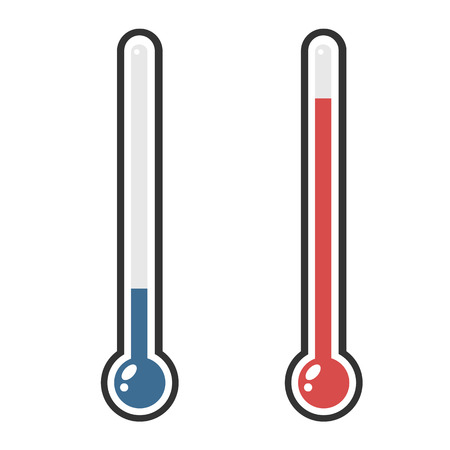 hotter: Isolated thermometers in different colors