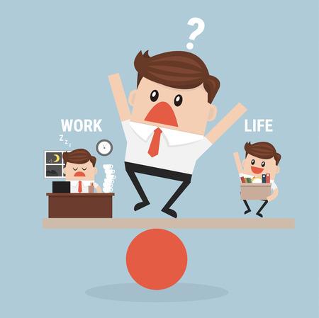 Empresario Trabajo equilibrio y la vida