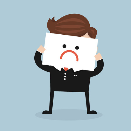 despaired: Business man have a bad mood