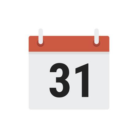 calendar design: Calendar icon flat design vector
