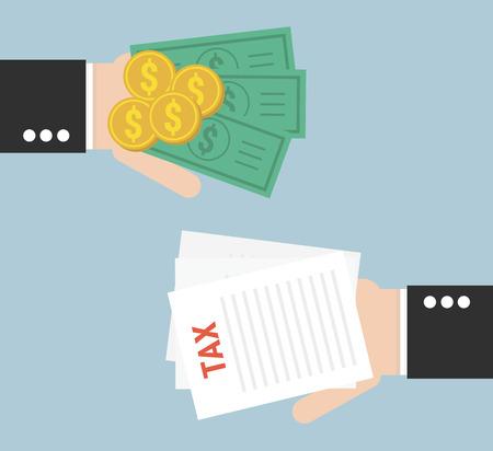 financial burden: taxes icon design, vector illustration Illustration