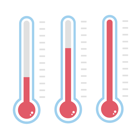 high scale: Thermometer icon Illustration