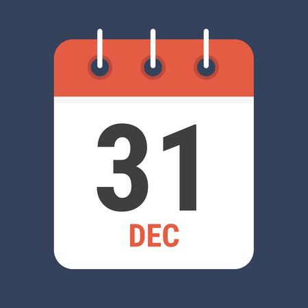 calendar design: Calendar icon flat design vector. Illustration