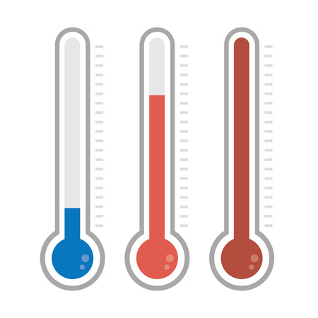 funding of science: Isolated thermometers in different colors