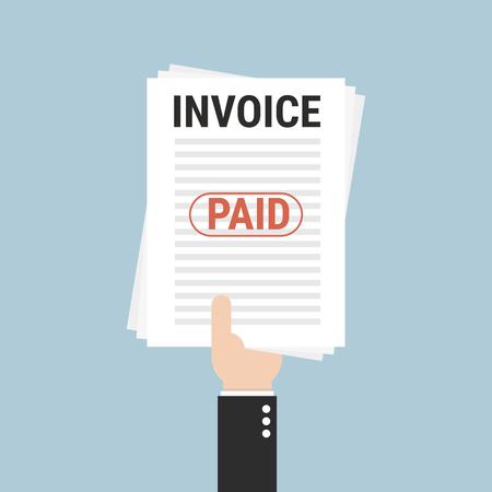 fetter: Invoice, flat design