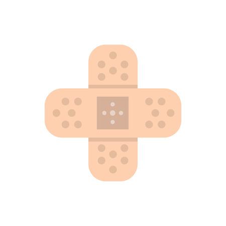 Vector adhesive bandage icon.