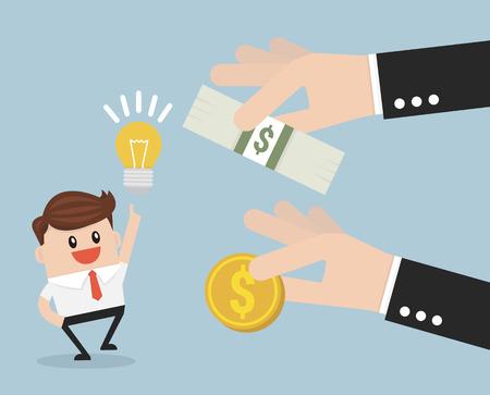 philanthropist: crowd funding, investors concept