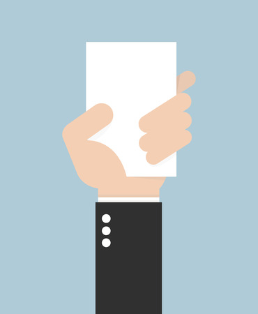hand holding card: Businessman hand holding card,vector