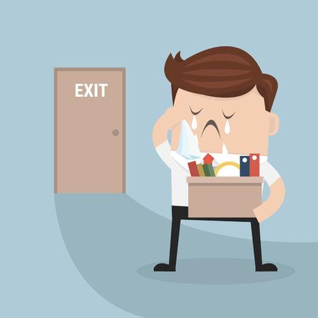 Geschäftsmann Weggehen Job Vektorgrafik