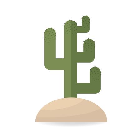growth hot: Cactus icon. Illustration