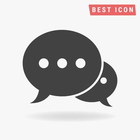 speech buble: Speech bubble icon vector, Speech icon