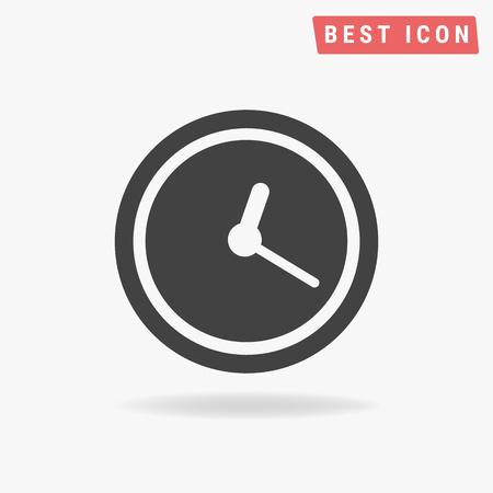 icono del reloj, Ilustración de vector