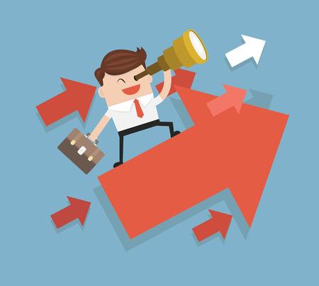 Op zoek naar mogelijkheden. Business concept Vector Illustratie