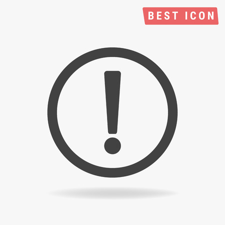 exclamation icon: Exclamation Icon Vector.