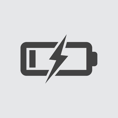 battery charging: Battery Charging Icon Illustration