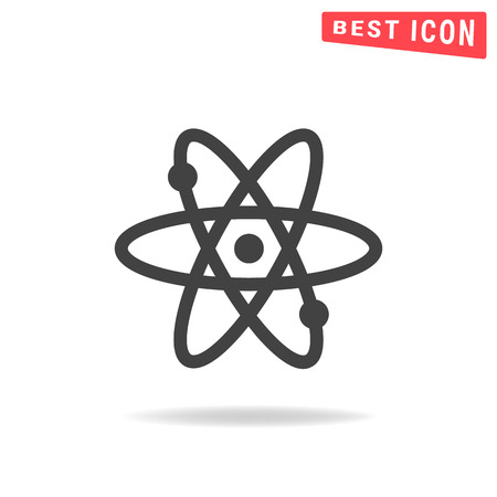 simplified: atom Flat icon on white background. Simple vector illustration Illustration