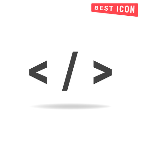 hypertext: Code icon Illustration