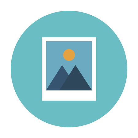 instant photo: Vector icon of two instant photo frames in flat style Illustration