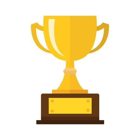 Vector Trophy Cup Wohnung Icon Standard-Bild - 60094332