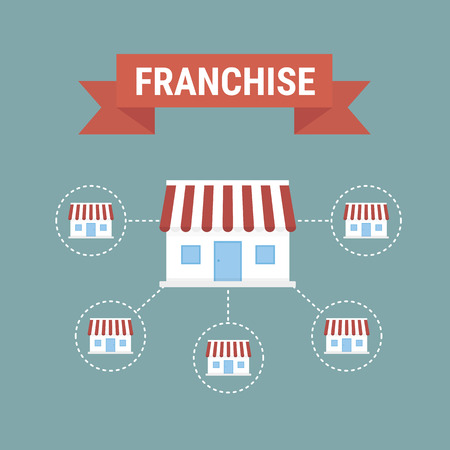 Business concept, Franchise business. Vector illustration.
