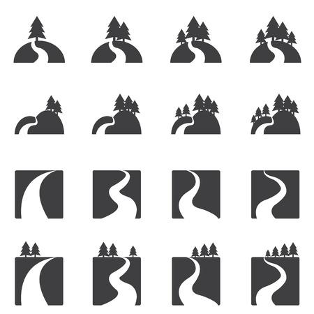 icono río conjunto
