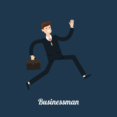 businessman jumping: businessman run,businessman jumping Illustration