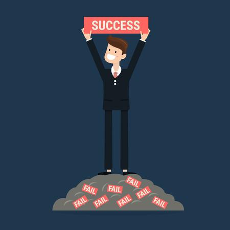 carreer: Successful businessman. Illustration