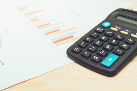 summarize: calculator with  business charts